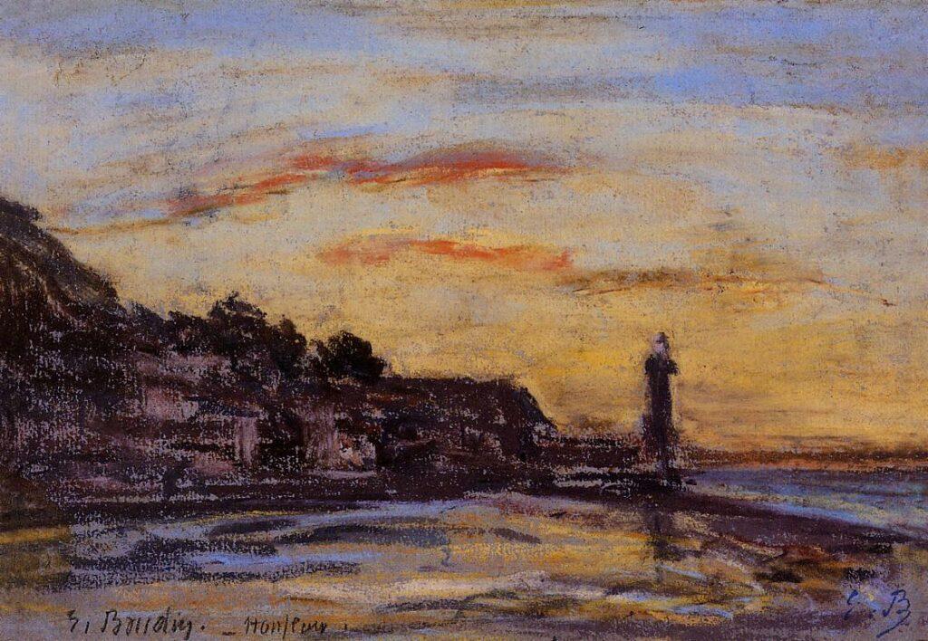 Eugène Boudin, 1IE-1874-21-1, études diverses. Maybe??: 1855-60, Honfleur, the lighthouse, pastel, private (iR2;R2,p119)