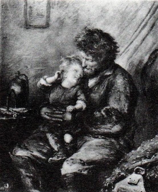 Adolphe-Félix Cals, 1IE-1874-37, Le bon père Pêcheur (120x100) Compare: 1874, Le bon père Pêcheur à Honfleur, 41x34, xx (R90II,p21+6;R87,p234;R2,p161;aR2,144+208)