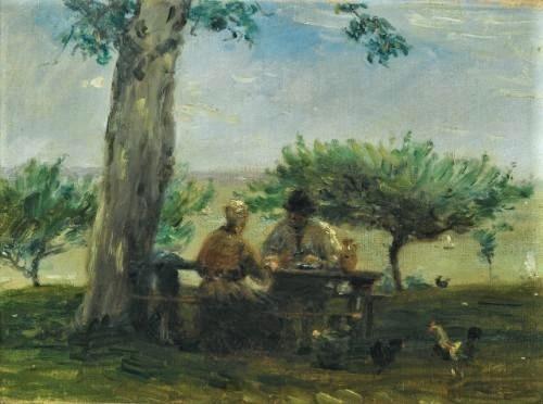 Adolphe-Félix Cals, 2IE-1876-30, A la ferme de Saint-Siméon. Maybe?: 1875ca, le jardin de la ferme Saint-Simeon, Honfleur, 24x34, A2011/10/26 (iR11;iR41;R2,p161;R90II,p34)