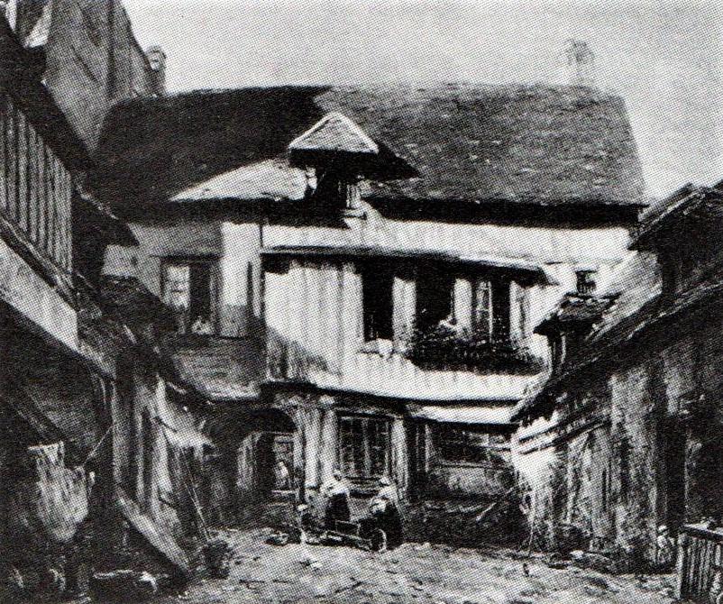 Adolphe-Félix Cals, 2IE-1876-31, Cour à Honfleur = 1872, Intérieur de cour à Honfleur, 55x65, xx (R90II,p48+34;R2,p161) Doria sale 1899. Compare: 3IE-1877-7.