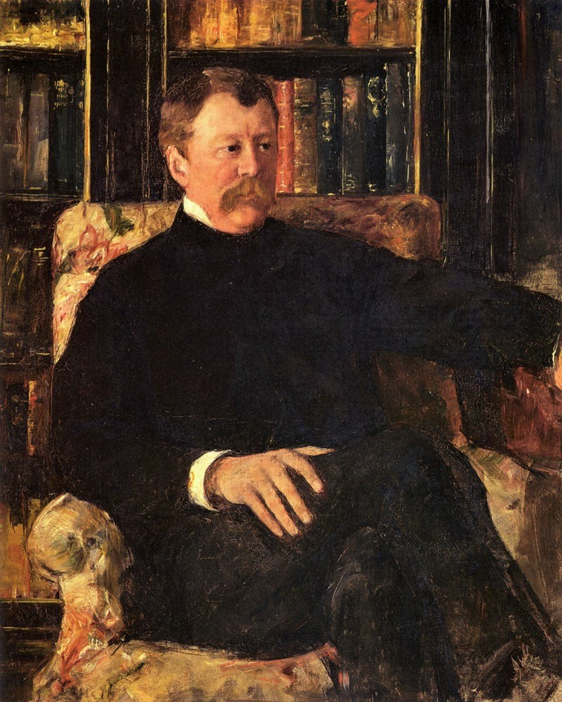 Mary Cassatt, 4IE-1879-46, Portrait de M. C… Maybe: 1880, CR79, Portrait of Alexander J. Cassatt, 101x81, private (iR92;iR10;iR7;R187;R90II,p108;R2,p267)