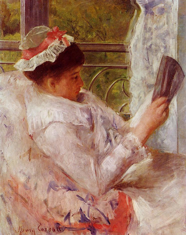 Mary Cassatt, 4IE-1879-52, Femme lisant. Maybe?: 1878, CR52, Woman Reading (Lydia Cassatt; no.2), 81x65, NSM Pasadena (iR2;iR92;R187,no52;R2,p267;R90II,p108)