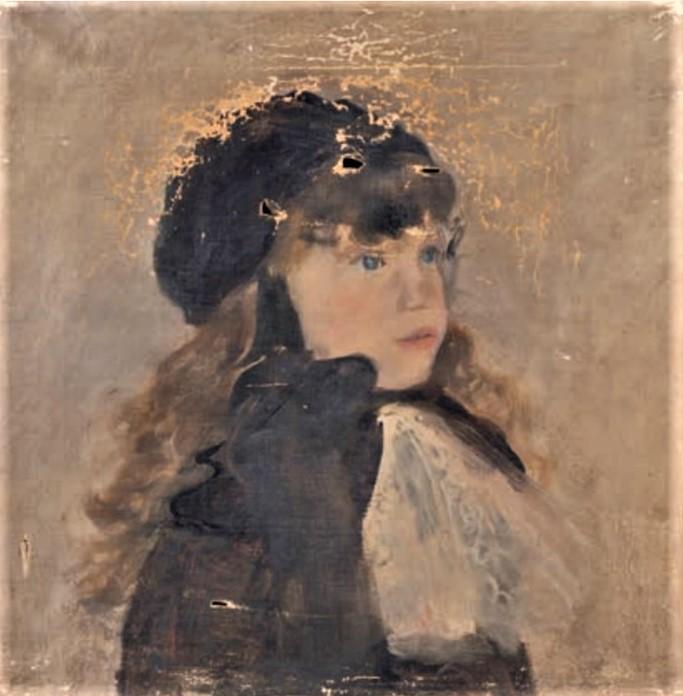 Jean-François Raffaëlli, 5IE-1880-145, Profil d'enfant. Maybe??: 18xx, La petite fille, 45x45, A2020/03/13 (aR10;iR85;iR10;R2,p313;R90II,p154)