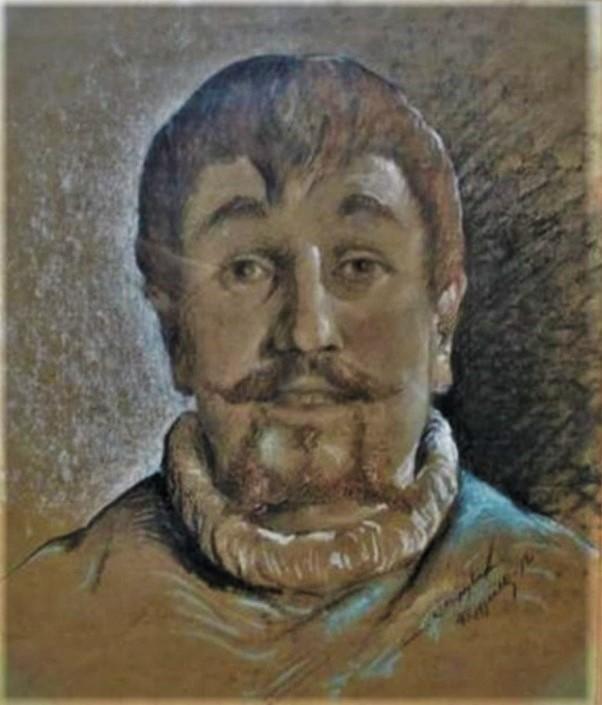 Jean-François Raffaëlli, 5IE-1880-155, Tête d'Auvergnat; aquarelle et pastel. Compare: 1872, Portrait d'homme, pastel, 44x37, A2009/06/24 (iR13;iR17;R2,p313;R90II,p154)