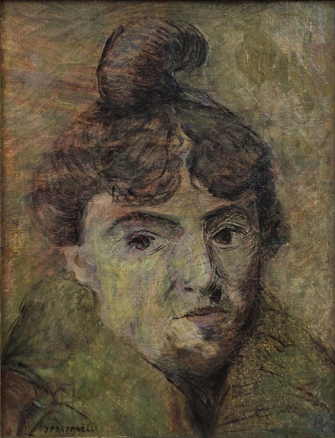 Jean-François Raffaëlli, 5IE-1880-159, Tête de vieille femme; pastel. Compare: 1882-85ca, La Goulue (Louise Weber), 35x26, MBA Dijon (iR6;iR10;iR224;Mx;R2,p313;R90II,p154)