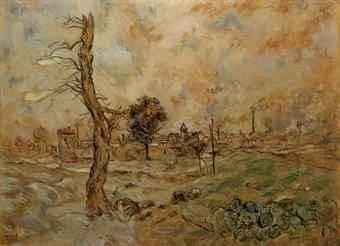 Jean-François Raffaëlli, 5IE-1880-173, La plaine de Gennevilliers. Compare: 1xxx, la plaine Saint-Denis, 66x87, A2011/06/21 (iR11;R2,p313;R90II,p155). Compare: se1884-128 (aR14,p16).