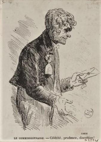 Jean-François Raffaëlli, 5IE-1880-177, Un commissionnaire de Paris. Compare: Unknown artist, 18xx, Le commissionnaire, etch, xx, MC Paris (iR195;iR10;R2,p313;R90II,p156)