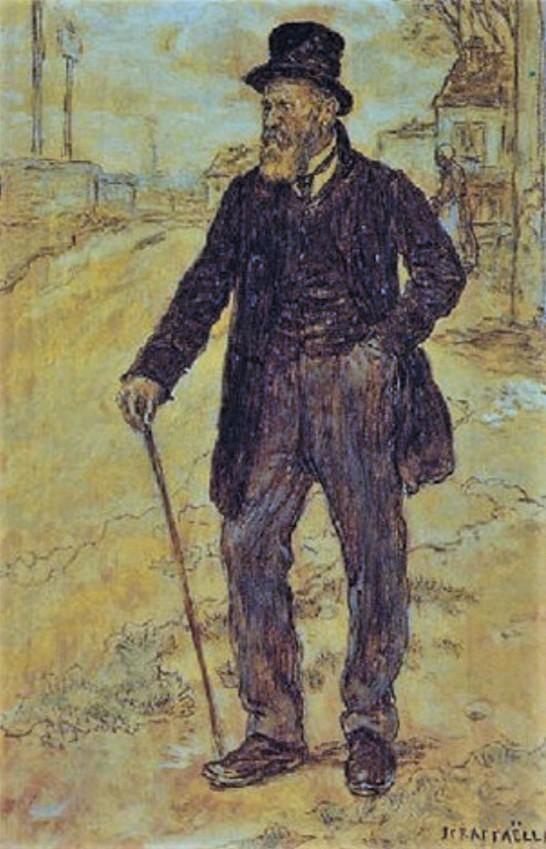 Jean-François Raffaëlli, 5IE-1880-178, Portrait. Maybe??: 18xx, Un ancien ministre, on panel, 24x16, A2002/03/21 (iR13;R2,p313)