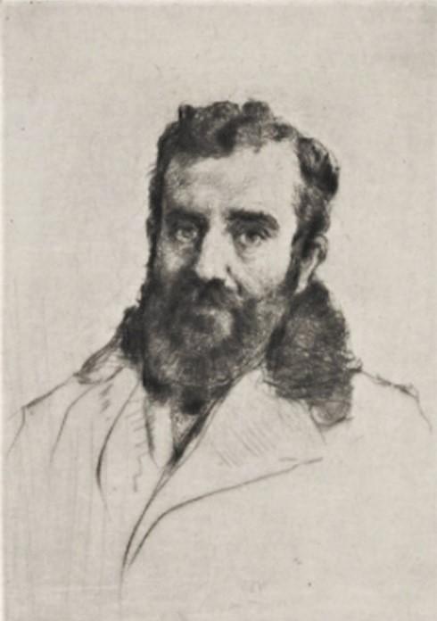 Marcellin Desboutin, 1877, J.F. Raffaëlli, etch, xx, BNF Paris (iR40)