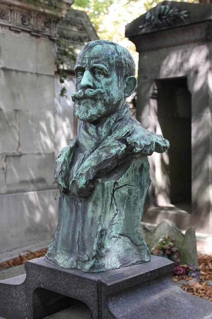Ries, 1910, Bronze buste of Raffaëlli (tombe cimetière du Père Lachaise, division 23) (iR6)