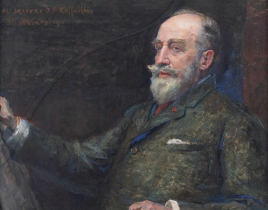 Weerts, 1911, portrait of Raffaëlli, 23x31, Axx (aR10;iR85)