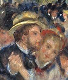 Auguste Renoir, 1876, CR209, Le Moulin de la Galette (detail Cordey?), 131x175, Orsay (iR2;R30,no249;R1,p383;R108,no209;R4,p164)