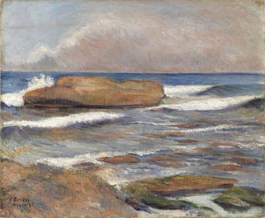 Frédéric-Samuel Cordey, 1881, Le Rocher de l'oeuf à Alger (Marine), xx, MUDO Beauvais (iR127;iR10;iR108)