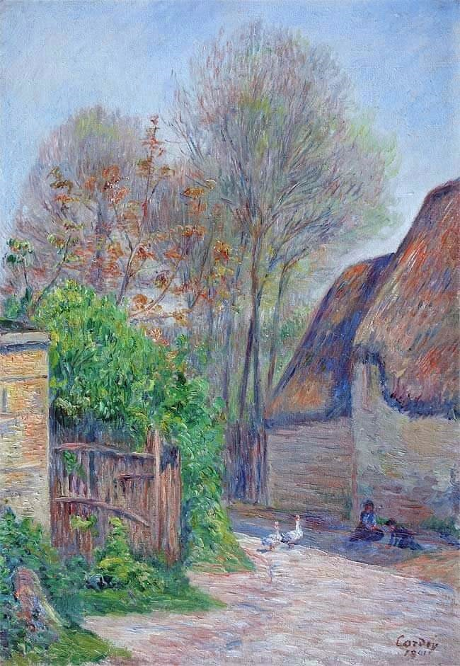 Frédéric-Samuel Cordey, 1890 (1901), Chaumière à Saint-Valerie, 55x38, A2016/02/23 (iR250;iR11;iR10;iR17)