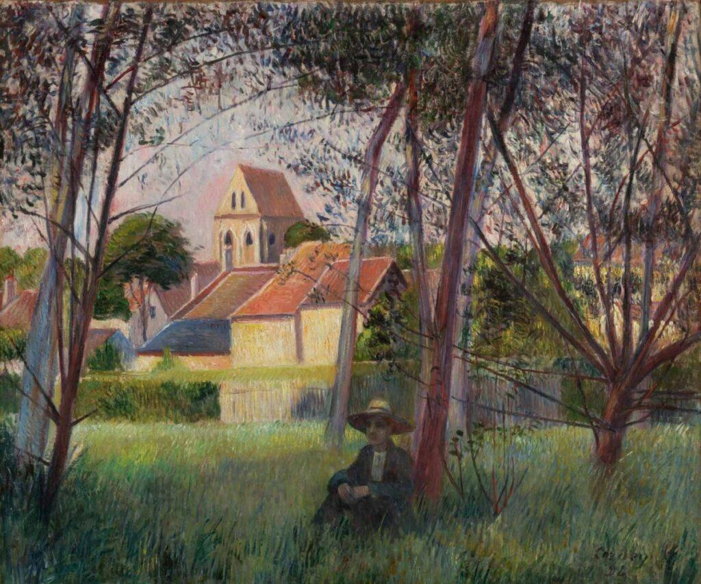 Frédéric-Samuel Cordey, 1892, View on the church of Auvers-sur-Oise, 47x56, A2016/06/01 (iR116;iR11;iR10;iR116)