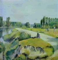 Frédéric-Samuel Cordey, 1893-94, View on Éragny-Neuville (at the banks of the Oise), 50x61, A1993/06/30 (iR13;iR251;iR260)