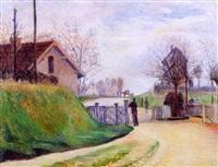 Frédéric-Samuel Cordey, 1894, Le garde barrière (The fence guard; paysage à niveau / landscape at level ), 47x61, A2000/12/20 (iR13;iR251;iR260)