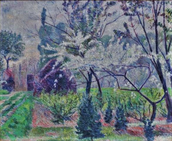 Frédéric-Samuel Cordey, 1894 (?), Orchard in spring, xx, A2021 (iR10;iR100)