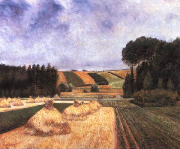 Frédéric-Samuel Cordey, 1895, Paysage aux meules (Landscape with haystacks), 61x74, A1990/06/13 (iR4;iR13;iR22;iR251;iR260)
