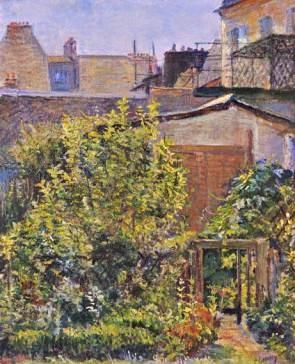 Frédéric-Samuel Cordey, 1895ca, Jardin dans une banlieue à Paris, xx, xx (iR3)