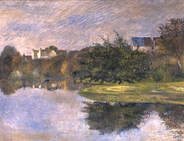 Frédéric-Samuel Cordey, 1896, Verger au bord de l'Oise (Orchard at the banks of the Oise), 54x73, A2018/11/26 (iR13;iR11)