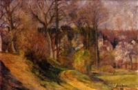 Frédéric-Samuel Cordey, 1898, Le chemin vers le château (the road to the castle), 44x61, A2001/12/07 (iR13;iR251;iR260)