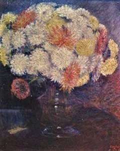 Frédéric-Samuel Cordey, 1898, White Chrysantiums in a Vase, 35x45, A2007/03/13 (iR4;iR13;iR18;iR22;iR251;iR260)