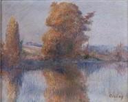 Frédéric-Samuel Cordey, 18xx, Banks of a river, xx, A2011/12/18 (iR13) cp1903ca, Bord de l'Oise en automne, 32x45, A20081207 (iR251)