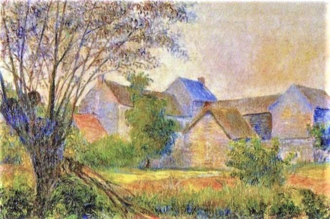 Frédéric-Samuel Cordey, 18xx, Farm near Pontoise, xx, Pontoise (?) (R9,p194)