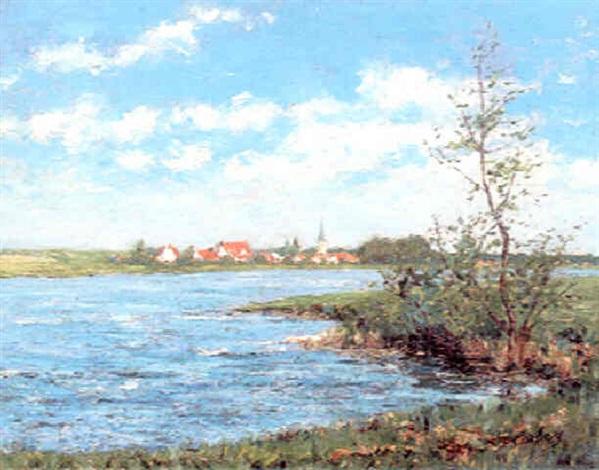 Frédéric-Samuel Cordey, 18xx, Les bords de l'Oise (The banks of the Oise), 44x55, A1998/05/17 (iR10;iR13)