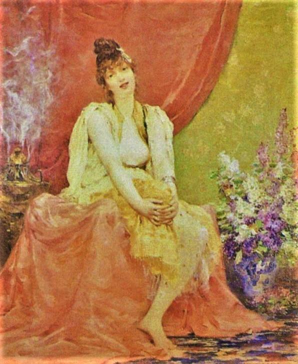 Franc Lamy, 18xx, an exotic beauty, 74x61, private Axx (R3,p370;aR1;iR13)