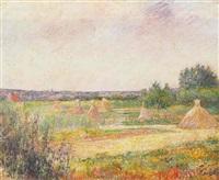Frédéric-Samuel Cordey, 18xx, les environs de Pontoise (the surroundings of Pontoise; landscape with haystacks), xx, A1999/05/30 (iR13)