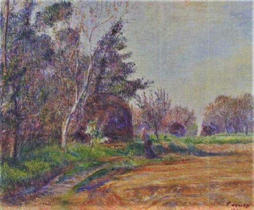 Frédéric-Samuel Cordey, 1901, À l'orée du bois (Coin du bois; at the edge of a forest), 38x45 A2000/12/13 (iR13;iR10;iR251) cpA2001/05/06 (iR260)