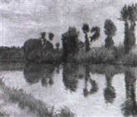 Frédéric-Samuel Cordey, 1xxx (cp1903), La pèche sur l'Oise (fishing on the Oise), xx, A1995/06/28 (iR13)