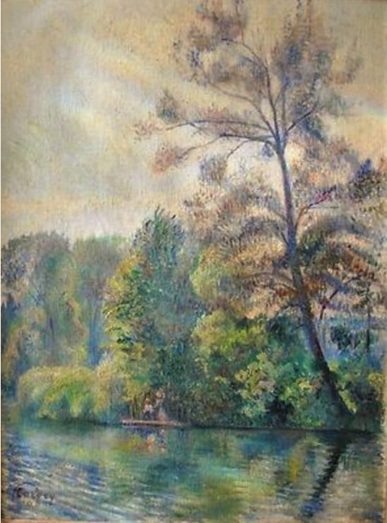 Frédéric-Samuel Cordey, 1905, Arbres aux bords de l'Oise, Auvers (Trees at the banks of the Oise near Auvers), 46x38, A2012/05/23 (iR10;iR252;iR17;iR11;iR13)