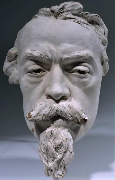 Zacharie Astruc, SdAF-1882-4069-5, Le marchand de masques ; statue, plâtre = 1882ca, Mask of Carpeaux, plaster, 25cm, MBA Angers (iR23;iR1)