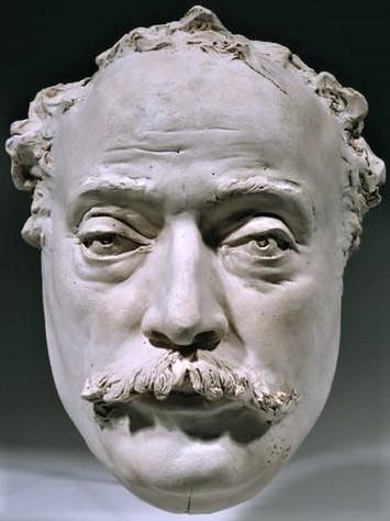 Zacharie Astruc, SdAF-1882-4069-8 Le marchand de masques; statue, plâtre = 1882ca, Mask of Alexandre Dumas, plaster, 25cm, MBA Angers (iR23;iR1) Compare: SdAF-1889-3990