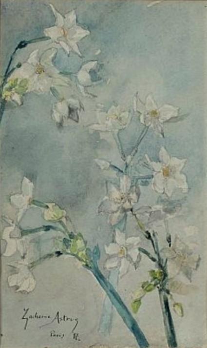 Zacharie Astruc, 1897, Fleurs, wc, 37x23, A2016/10/18 (iR100;iR10)