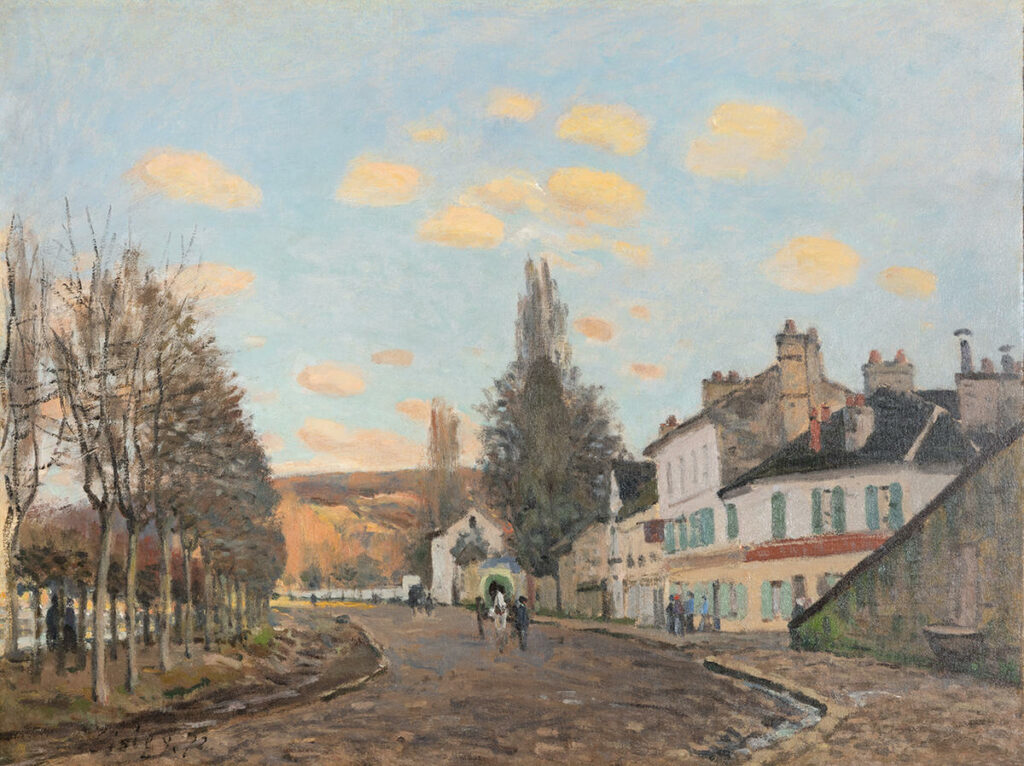 Alfred Sisley, 1IE-1874-161, Route de Saint-Germain. Probably: CR43, 1872, The Route from Saint-Germain to Marly, 46x61, McNay San Antonio (iR2;R2,p123;R90II,p28;R129,CR43;M154,no.1955.2)