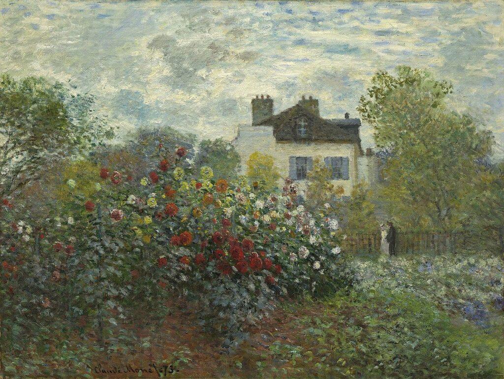 Claude Monet, 2IE-1876-159, Les Dahlias. Maybe?: CR286, 1873, Monet's Garden at Argenteuil (The Dahlias), 61x83, NGA Washington (iR10;iR6;R22+R127,CR286;M21,no1991.27.1)
