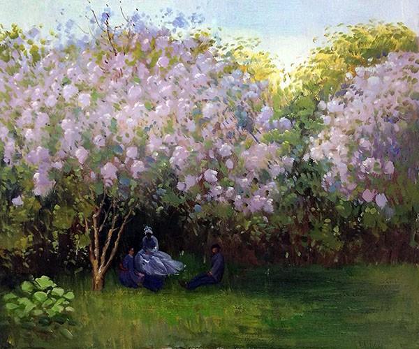 Claude Monet, 3IE-1877-113, Un Jardin. Maybe?: 1872, CR203, Lilacs, grey weather, 48x64, Orsay (iR10;R2,p205;R22+R127,CR203;M1,RF1680)