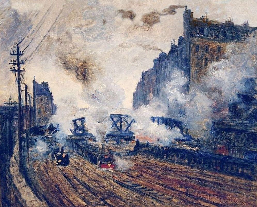 Claude Monet, 3IE-1877-116, Intérieur de la gare St-Lazare, à Paris or hc2. Maybe?: CR449, 1877, The tracks at Batignolles, xx, xx (iR10;iR64;R22,CR449;R90I,p181)