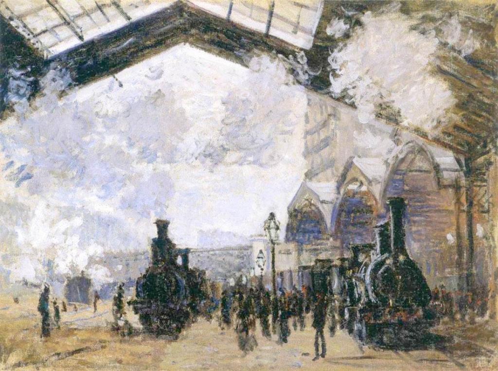 Claude Monet, 3IE-1877-117, Intérieur de la gare St-Lazare, à Paris. Maybe: CR441, 1877, Saint-Lazare Station, 54x73, NG London (iR2;R22,CR441;R2,p205;M61,no.6479)