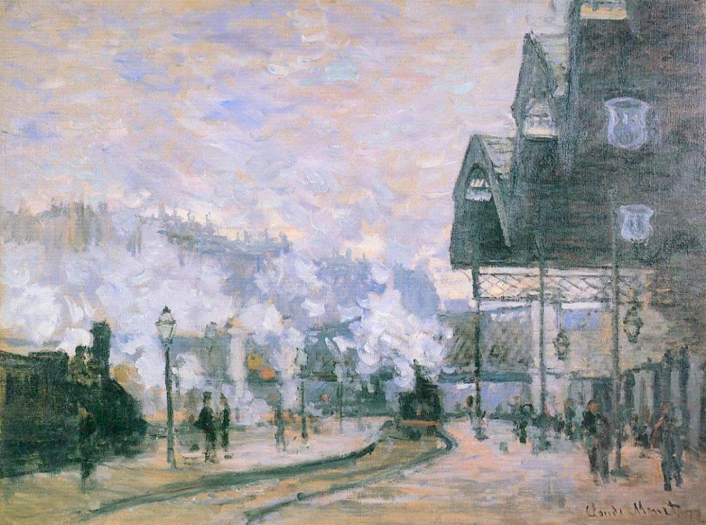 Claude Monet, 3IE-1877-118, Intérieur de la gare St-Lazare, à Paris or hc3 Maybe: CR446, 1877, Exterior view of Saint-Lazare Station (the Western Region Goods Sheds), 60x80, private (iR2;R22,CR446;R90I,p181+187)