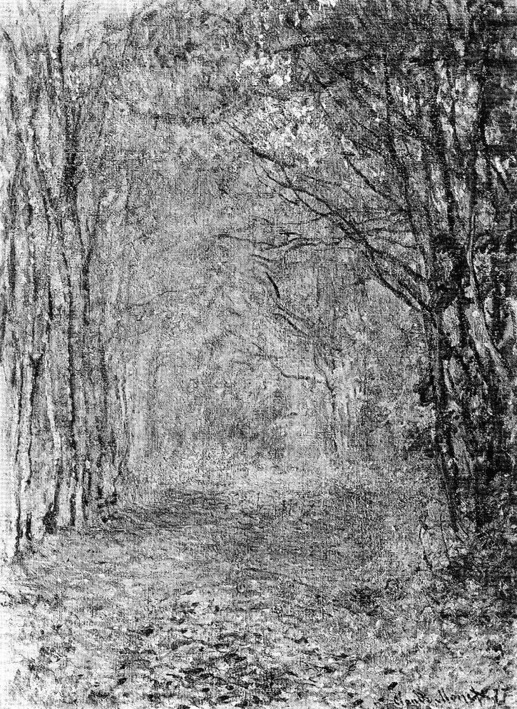 Claude Monet, 3IE-1877-92, Paysage d'automne= CR432, 1876, Wood lane, autumn, 72x60, xx (R22II,p175=CR432;R90II,p93;R2,p205)