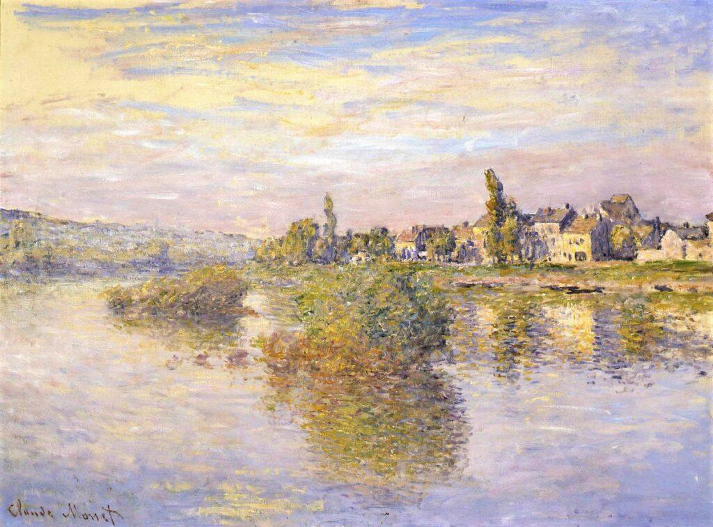 Claude Monet, 4IE-1879-150, La Seine à Lavacourt, (soleil couchant). Probably: CR538, 1879, The Banks of the Seine, Lavacourt, 60x81, Frick Pittsburgh (iR10;M38,no.1984_61;R2,p269;R90II,p134;R22+R127,CR538)