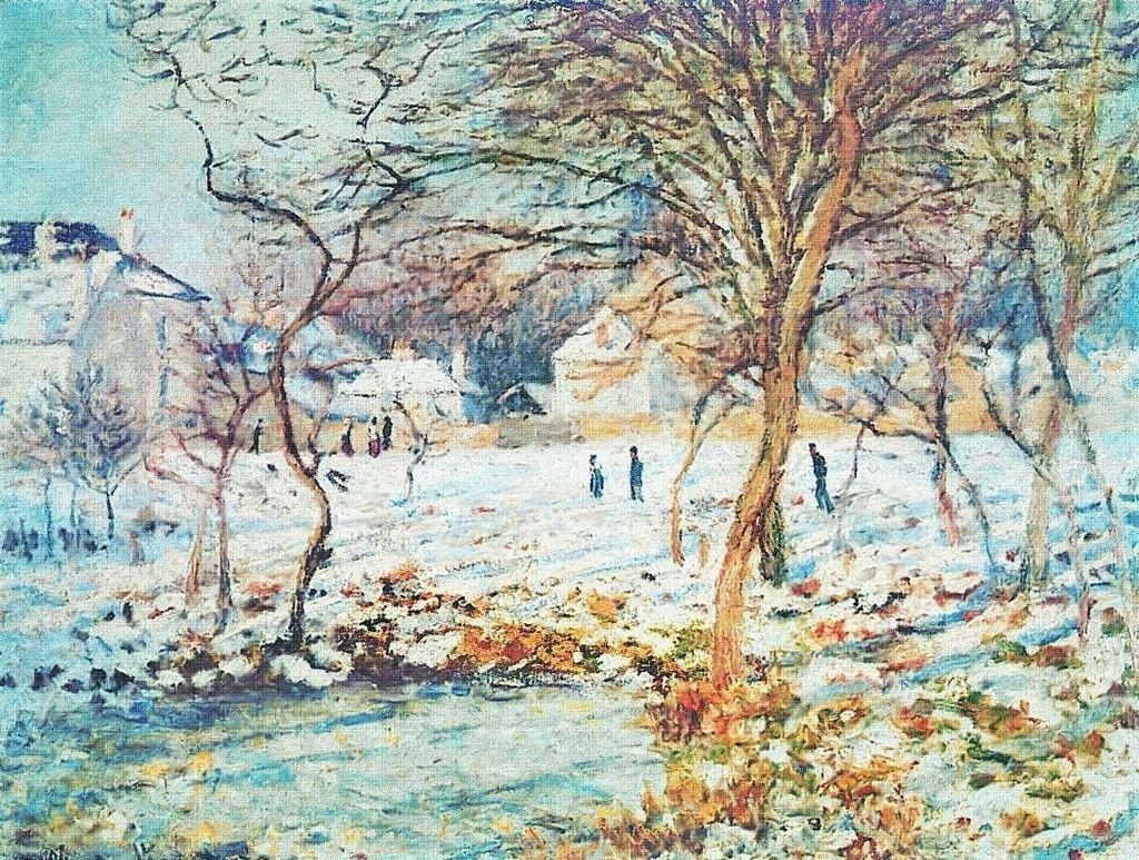 Claude Monet, 4IE-1879-160, La mare, effet de neige =CR350, 1874-75, The Pond, snow effect, 60x81, xx (iR10;iR64;R90II,p136;R2,p269;R22+R127,CR350)
