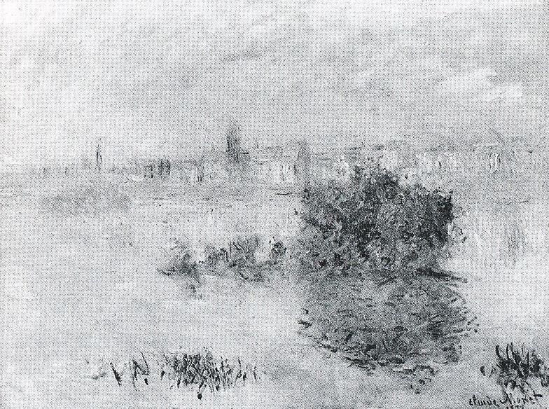 Claude Monet, 4IE-1879-161, Lavacourt, temps gris. Probably: CR476, 1878, Morning fog at Lavacourt, 59x80, xx (iR10;iR64;R90,p136;R2,p269)