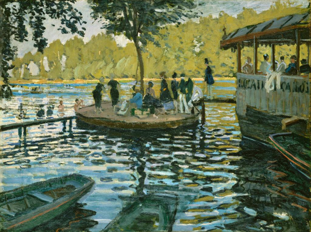 Claude Monet, 2IE-1876-164, Les bains de la Grenouillère. Maybe: CR134, 1869/09, La Grenouillère, 75x100, Metropolitan (M23,no.29.100.112;iR5;R2,p163;R90II,p59;R22+R127,CR134)