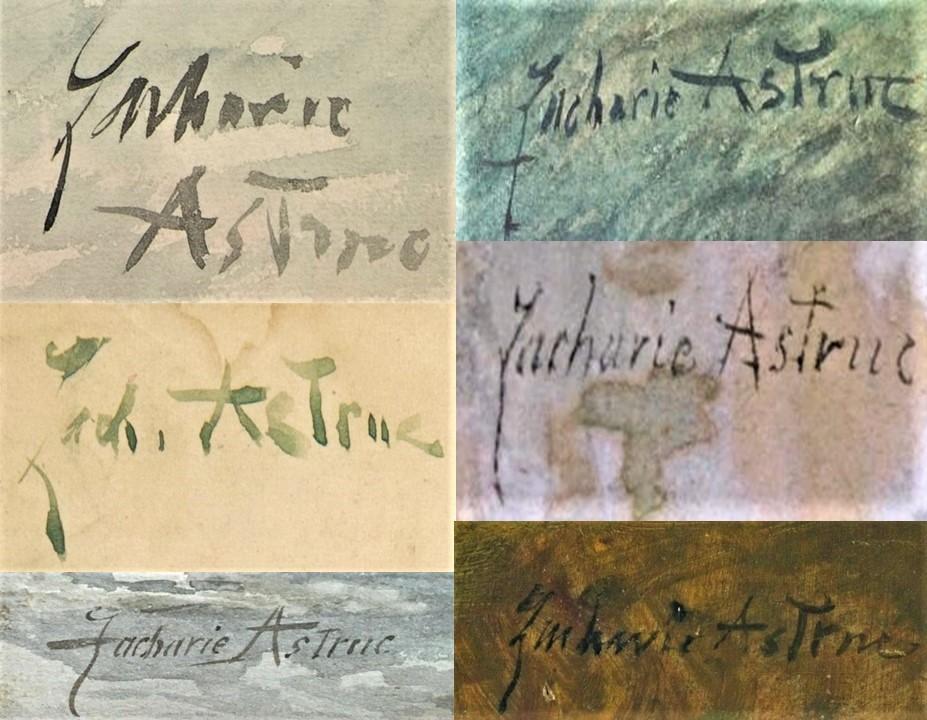Signatures of Zacharie Astruc (M23;iR2;iR10;iR16;iR42;iR116)